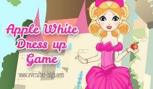 Apple White Classic Fashion Dress up