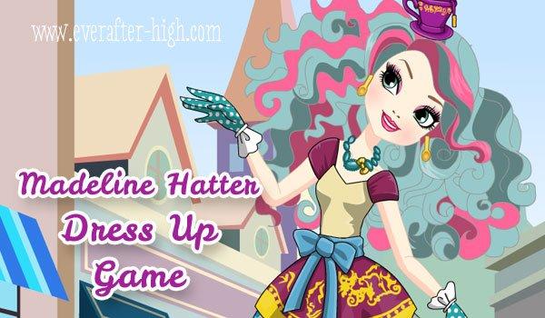 Madeline Hatter dress up
