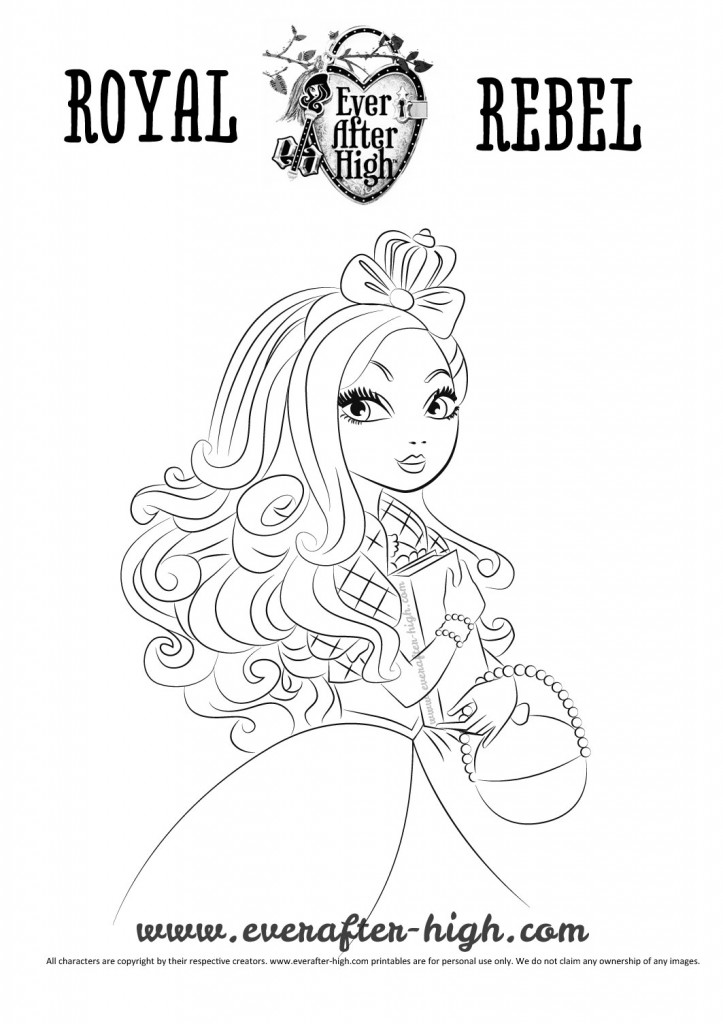 Black and white outlined Apple White drawing