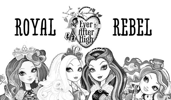 Ever After High Characters Coloring Page