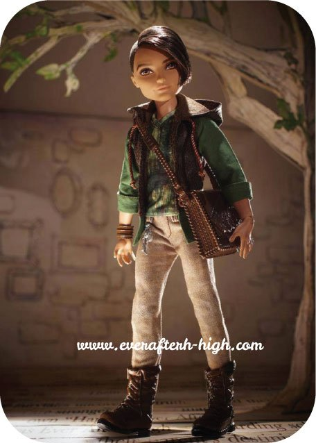 first image of Hunter Huntsman doll with its brown bag.