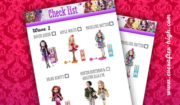 Ever After High Doll Checklist 3