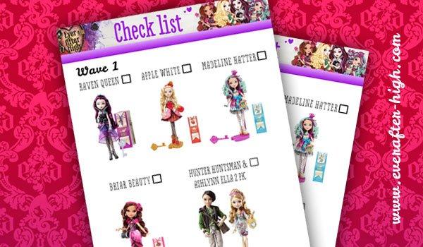 EAH Doll Checklist