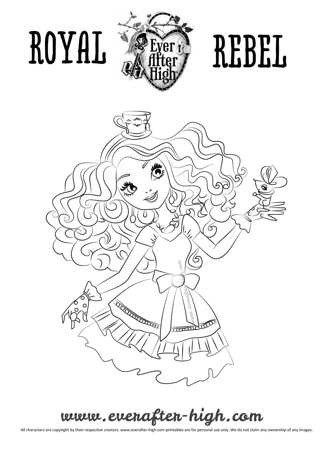 Madeline Hatter coloring page  Ever After High