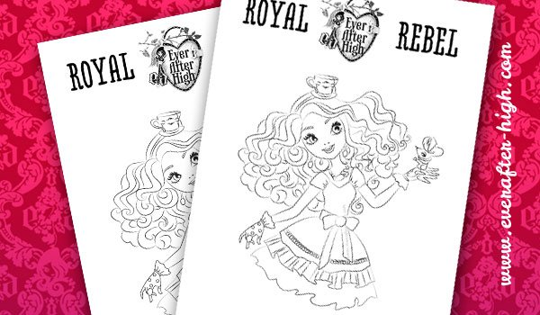 Madeline Hatter Coloring Page 2 By EverAfterHigh