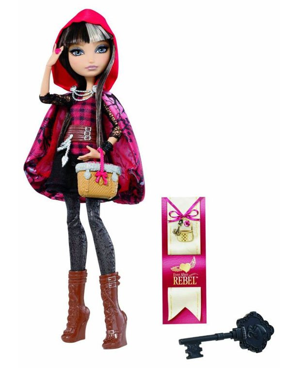 Cerise Hood doll in the market to buy with her diary and brush