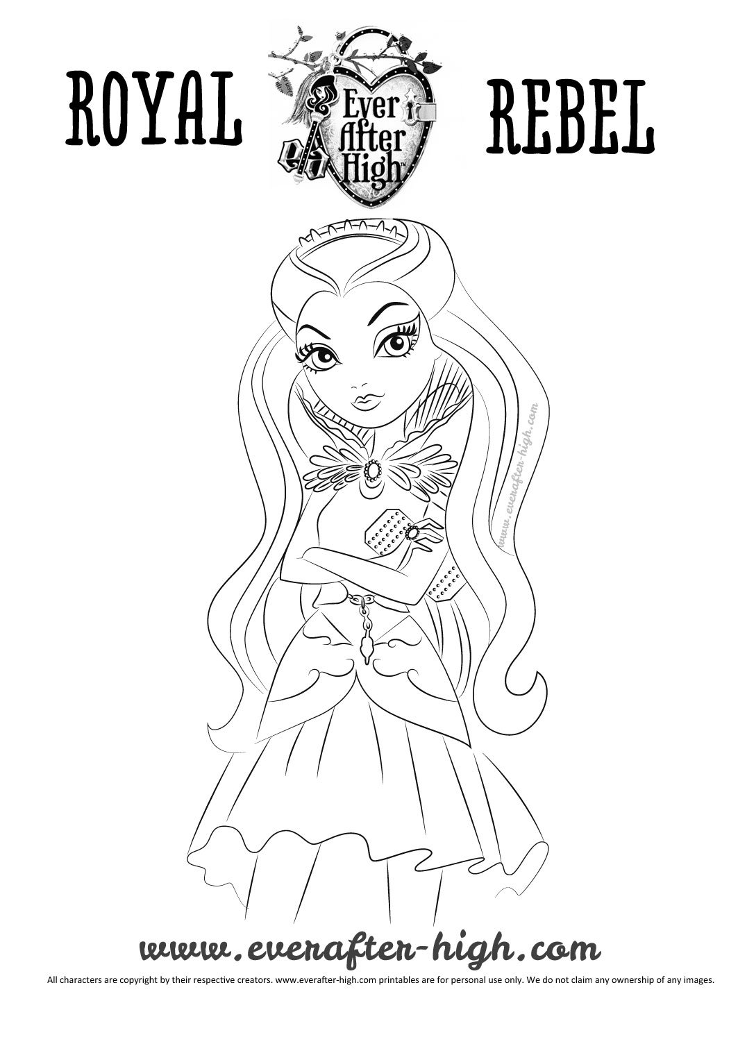 Raven Queen coloring pages Ever After High