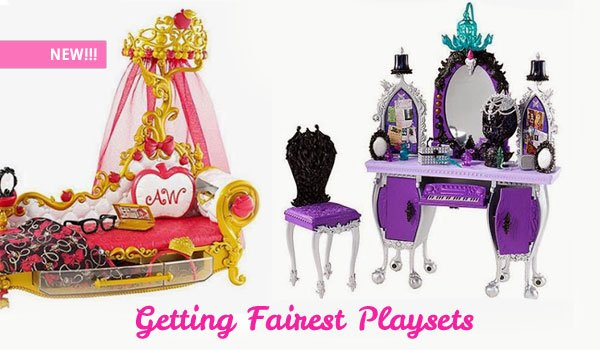 Apple White and Raven Queen Getting Fairest Playsets