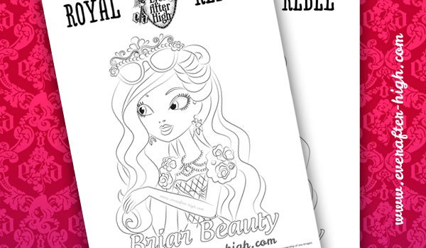 Coloring page from Briar Beauty's face
