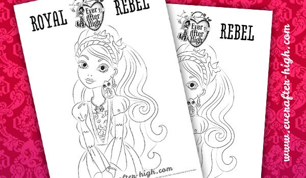 Ashlynn ella and hunter huntsman ever after high coloring page for Ella coloring pages
