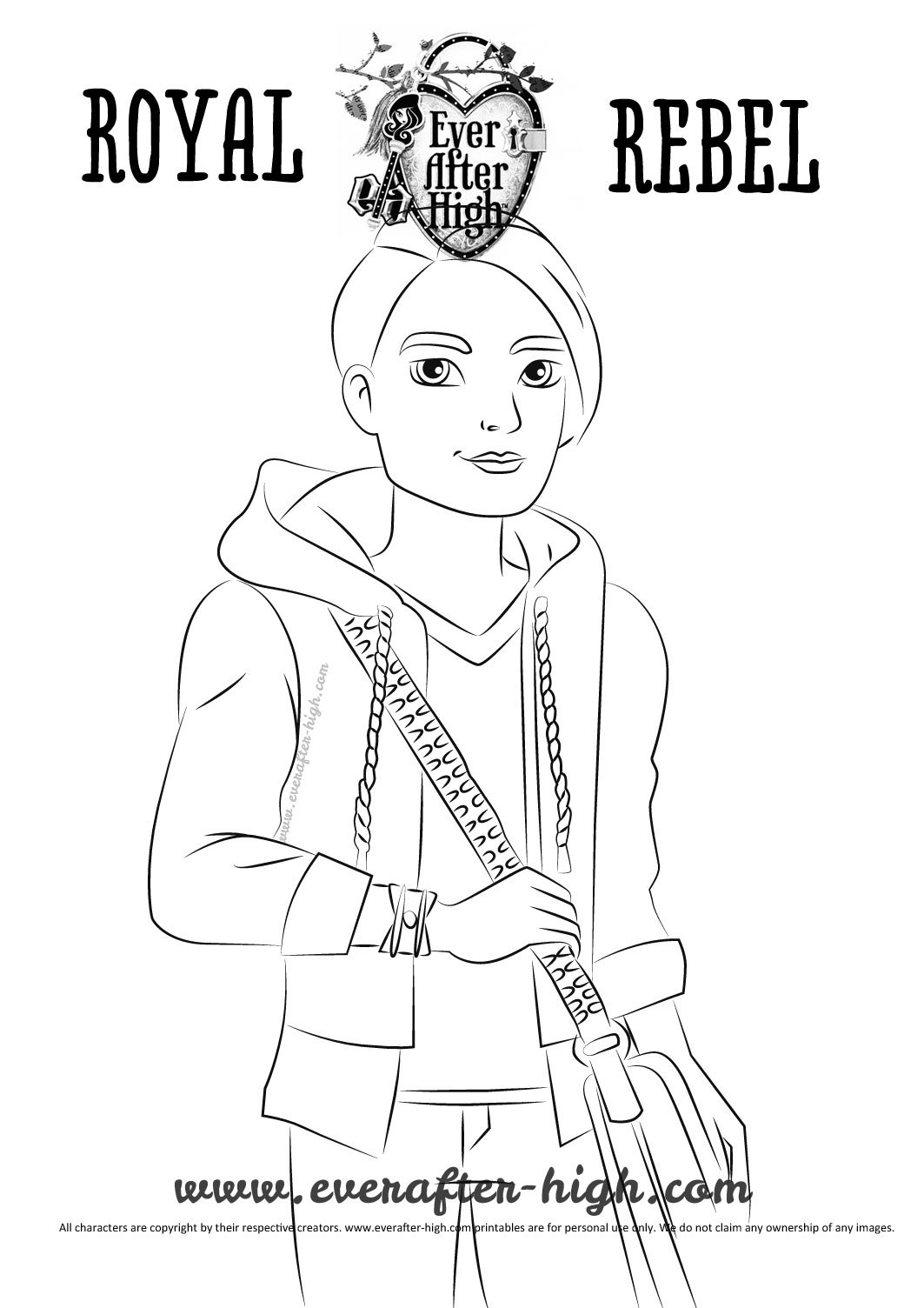 Hunter huntsman coloring page for Ella coloring pages