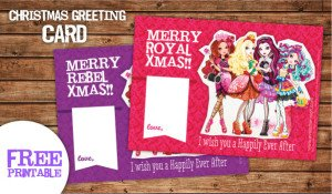 Ever After High printable greeting card