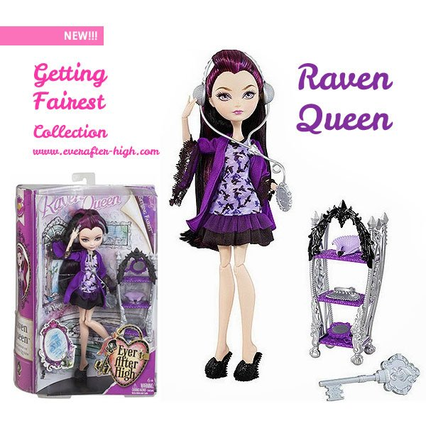 Raven queen doll with her pyjama on