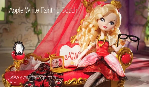 Apple White Fainting Couch