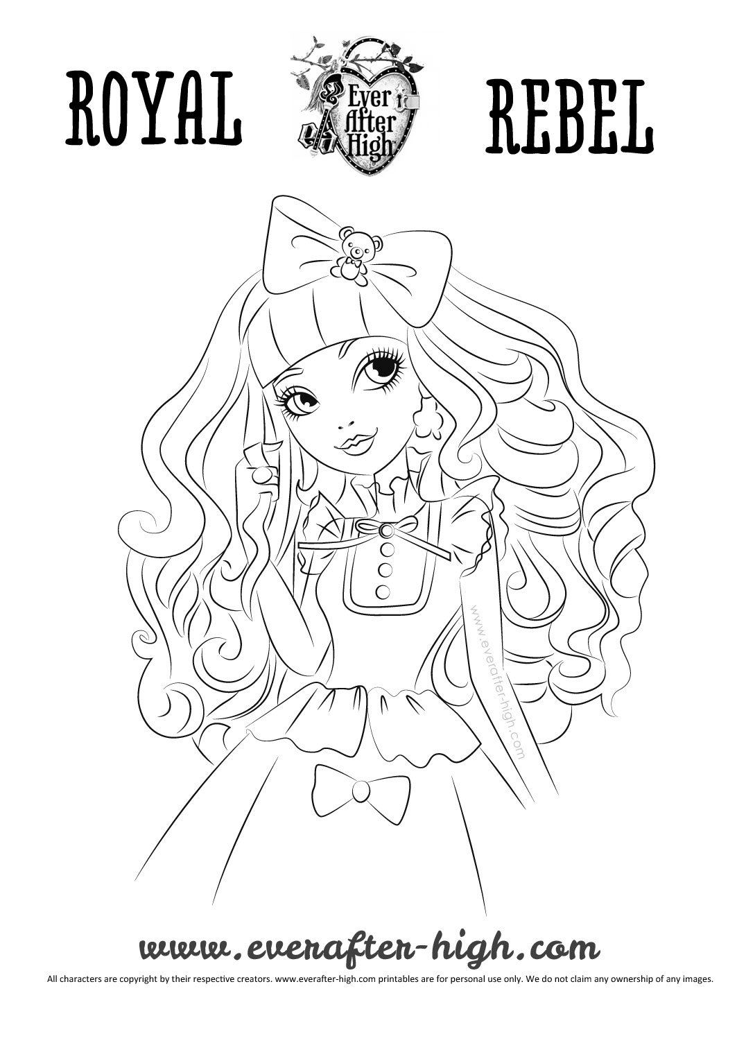 blondie lockes coloring page ever after high