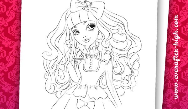 Coloring page from Blondie Lockes