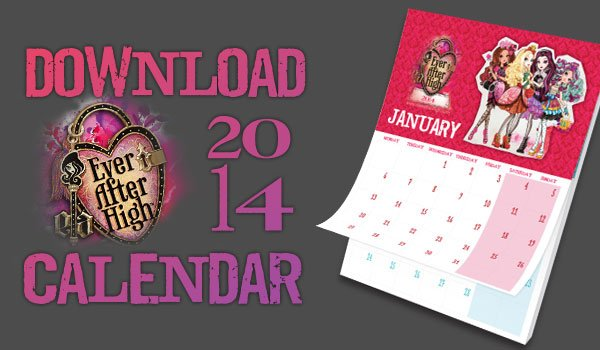 Ever After High free calendar download