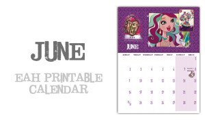 June Page of the Ever After High calendar