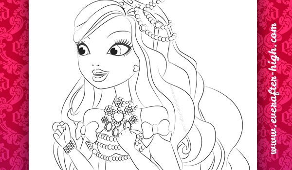 Coloring page of the Apple Withe's legacy day outfit