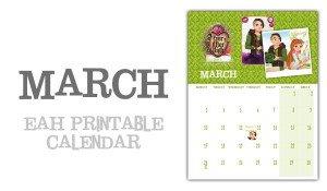 Ever After High March Calendar