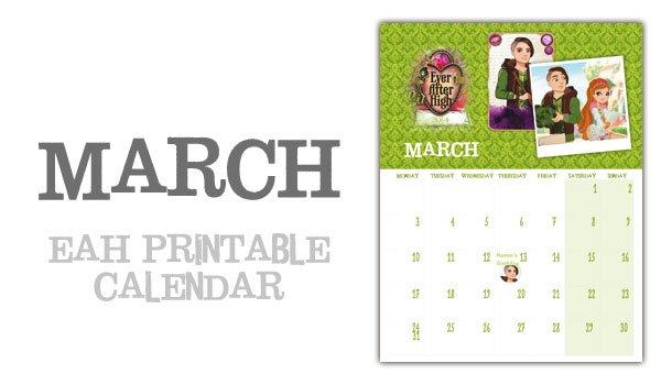 Ever After High 2014 Calendar – March