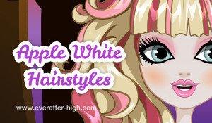 Apple White hairstlyes salon makeover