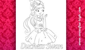 Coloring page from Duchess Swan