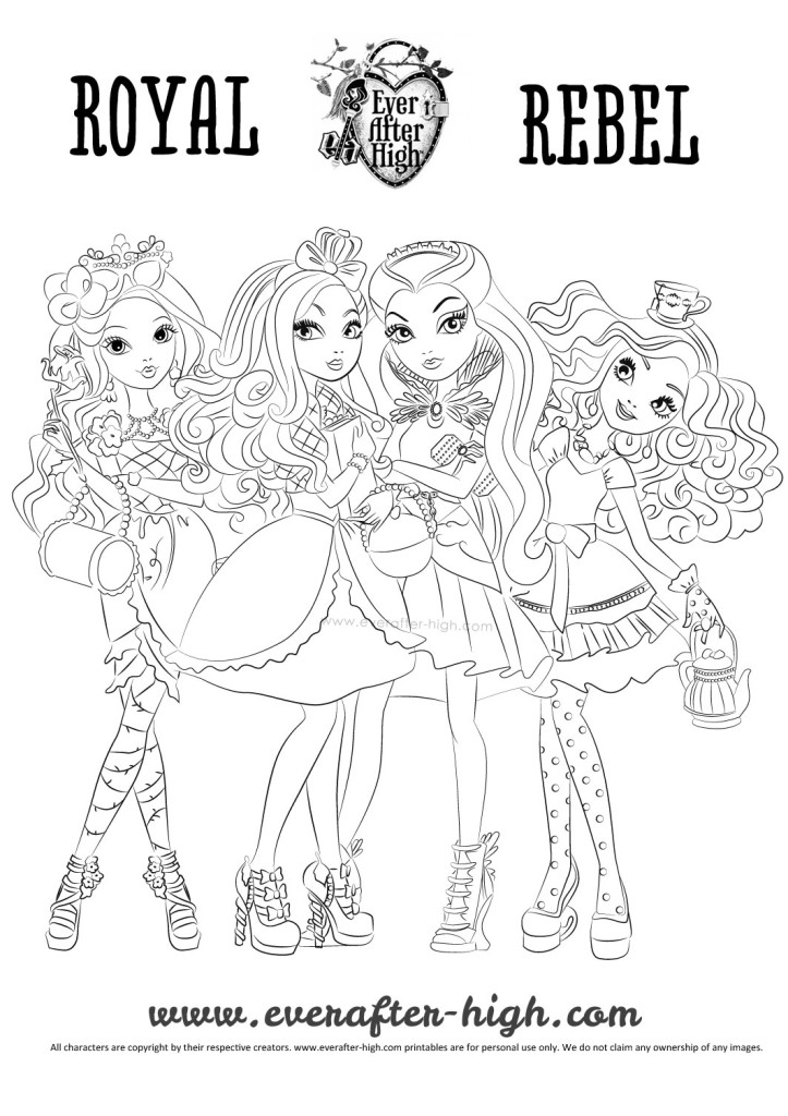 Free Ever After High Royals Coloring Pages