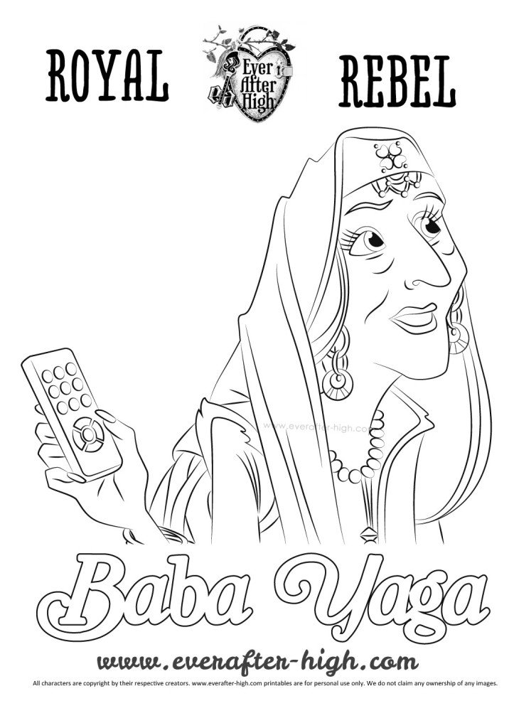 Ever After High Baba Yaga coloring page