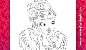 Coloring Page of the C.A. Cupid True Hearts Day