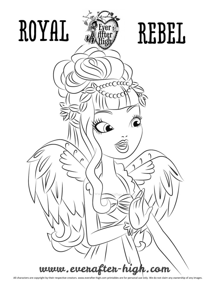 Ever After High C.A. Cupid True Hearts Day Coloring Page