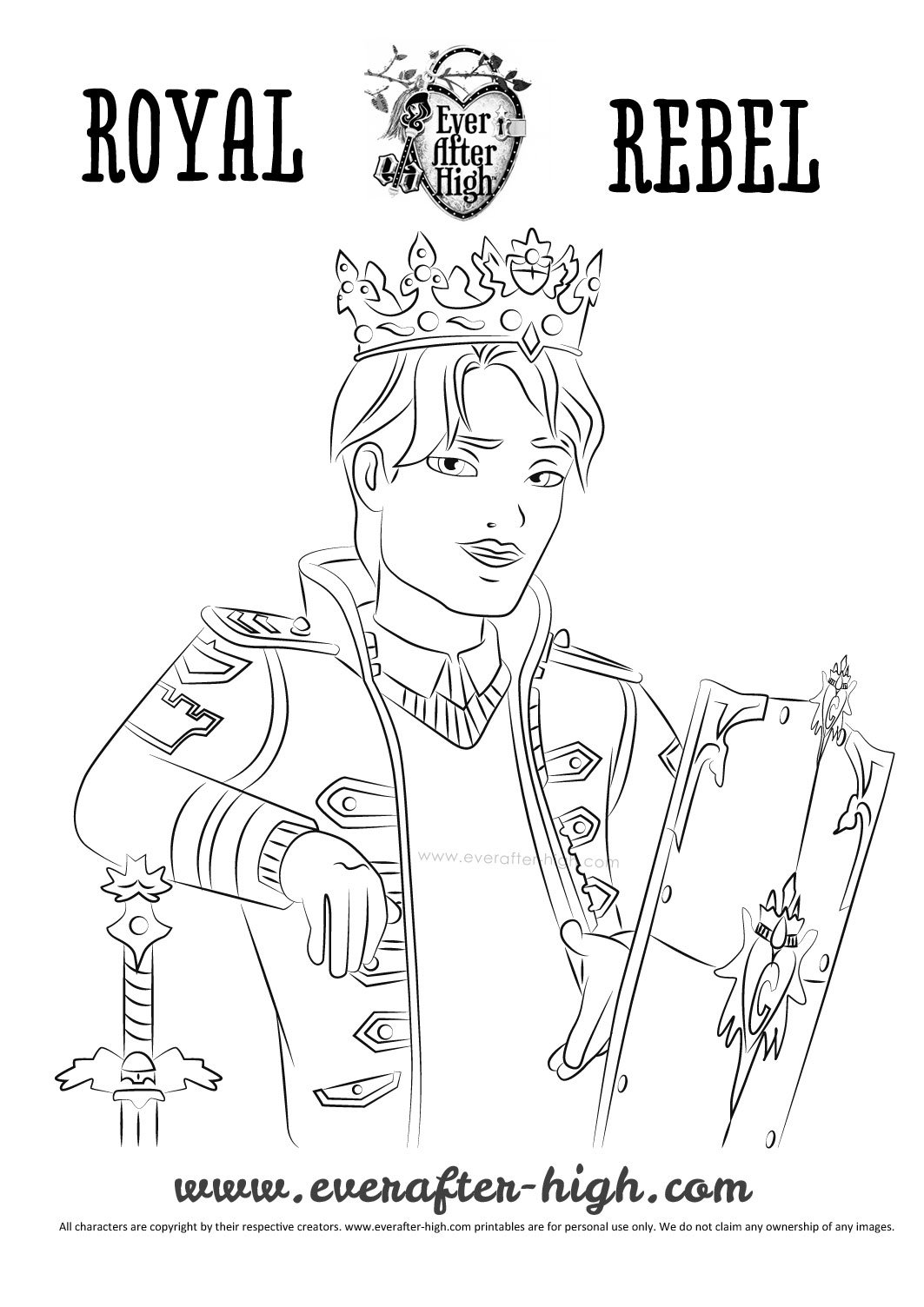Daring Charming Coloring Page Ever After High