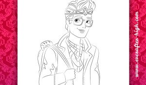 Coloring page of the Dexter Charming