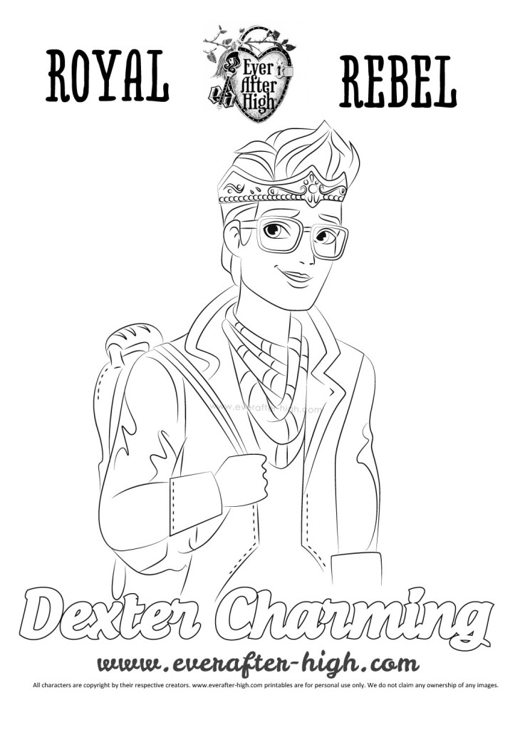 black and white image of the Dexter Charming character.