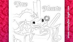 Coloring Page of the True Hearts Day