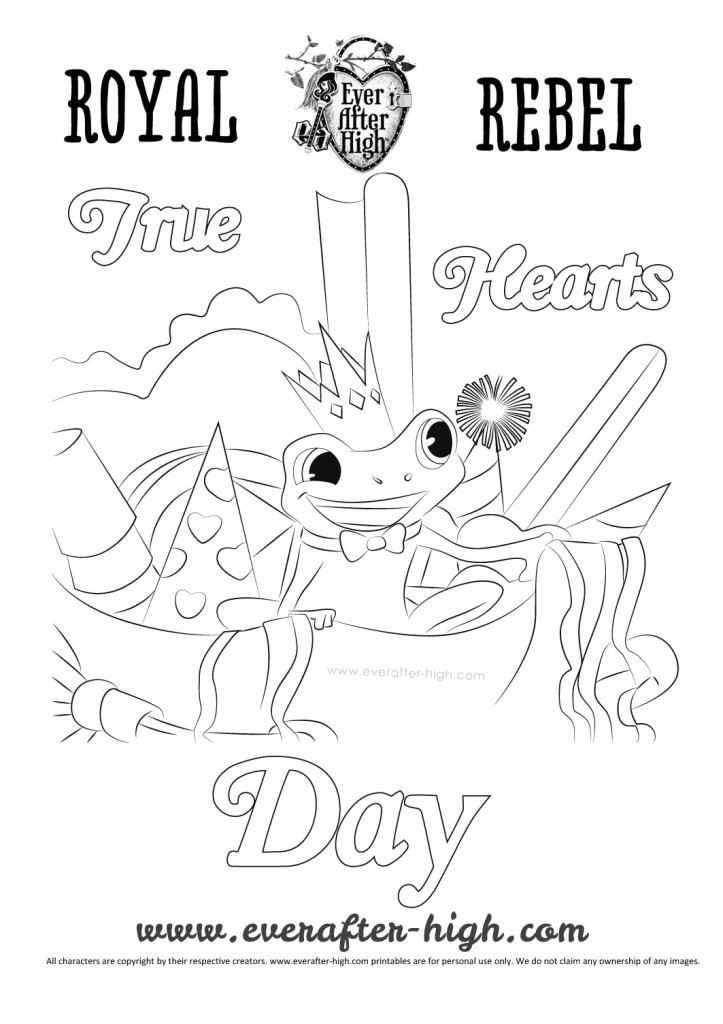 Ever After High Hopper coloring page
