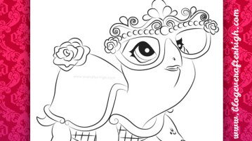 Briar Beauty Turtle Transformed Coloring Page
