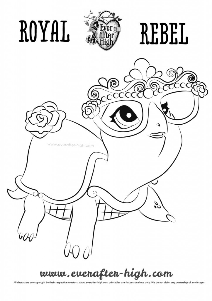 Briar Beauty Turtle Transformed Coloring Page Ever After