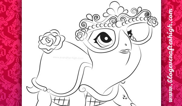 Ccoloring page of the Briar Beauty Turtle Transformed