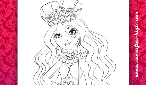 Coloring Page from Lizzie Hearts