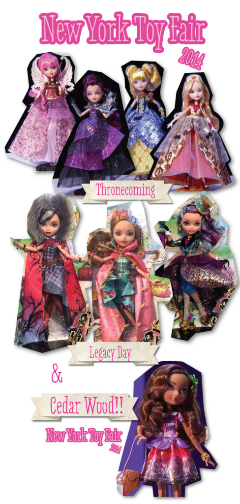 image where we see the new dolls presented in the New York Toy Fair 2014.