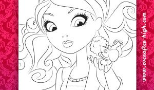 Madeline Hatter Getting Fairest with pet coloring page