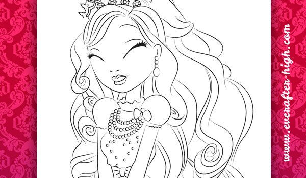 Coloring page of the Apple White Royal Beauty dress