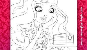 Coloring Page of the Blondie Lockes with Cake