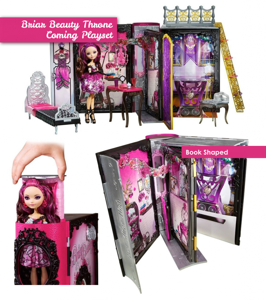 first images of Briar Beauty Coming Throne Playset.