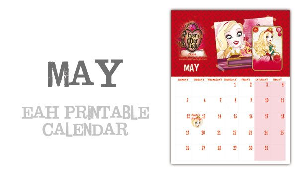 Ever After High 2014 Calendar – May