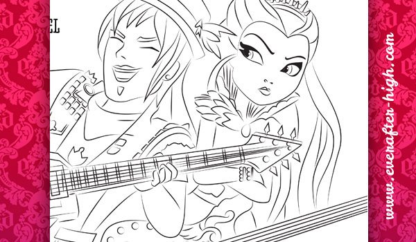 Coloring Page of the Sparrow Hood & Raven Queen
