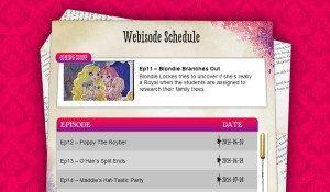 Webisode Schedule