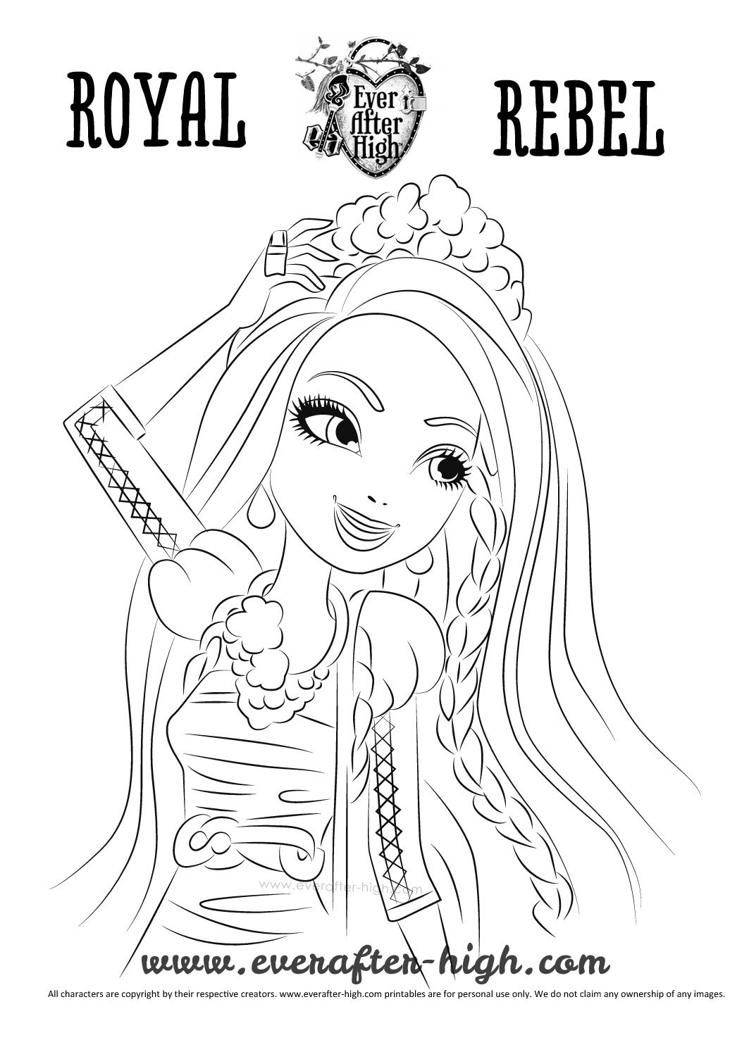 Holly O\'Hair Coloring Page | Ever After High