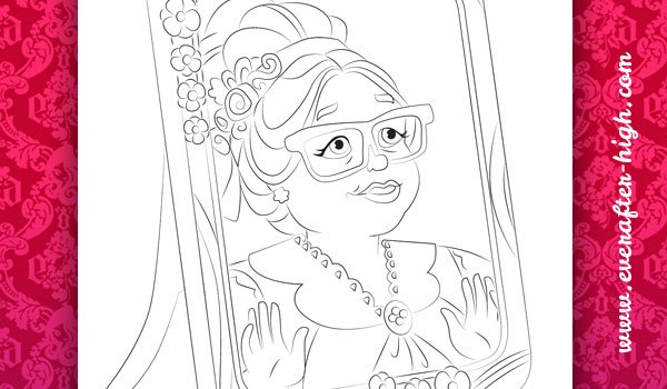 Coloring page of the Holly and Poppy O'Hair's Grandma